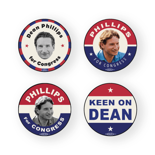 Phillips for Congress vintage style buttons